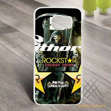 Rockstar death angel skull metal mulisha  Custom case for Samsung Galaxy