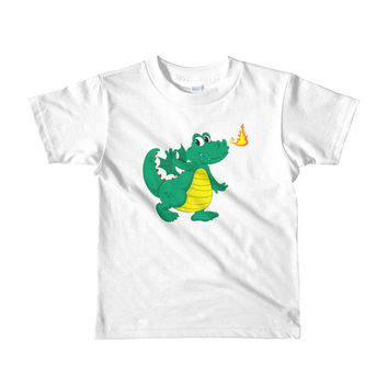 Green Baby Dragon Short sleeve kids t-shirt