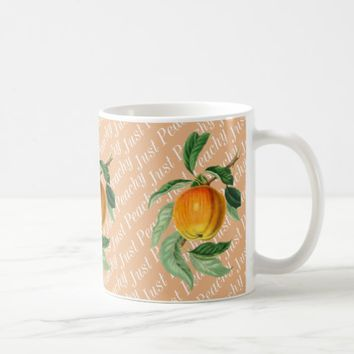 Just Peachy Peach Fruit Coffee Mug