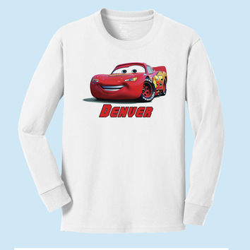 Personalized Disney's CarsLightning Macqueen from Cars Long Sleeve Shirt