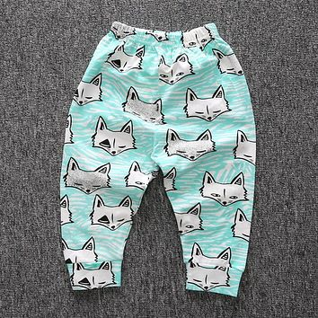 New Soft Cotton Baby Pants Fashion Pattern Boys Girls Pants Infant Harem PP Pants For Infant Newborn Trousers Boy Girl Clothing