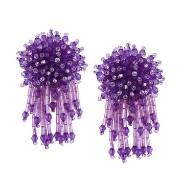 Belle Fleur Earrings | Violet