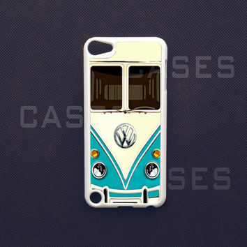 Ipod Touch 5 Case  VW Teal Minibus Ipod Touch 5 by DzinerCases