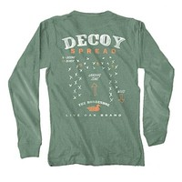 Decoy Spread Long Sleeve Tee in Light Green by Live Oak