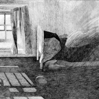 IN THE ATTIC - Instant Download - Fine Art - Interior Drawing - Pencil Drawing - Digital File