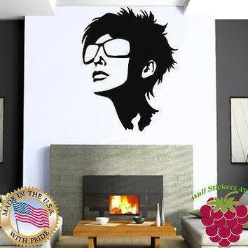 Wall Stickers Vinyl Decal Hot Attractive Girl In Sunglasses Unique Gift z620