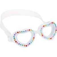 Rhinestone Heart-Shape Swimming Goggles