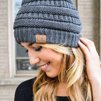 Powder Day Beanie Charcoal