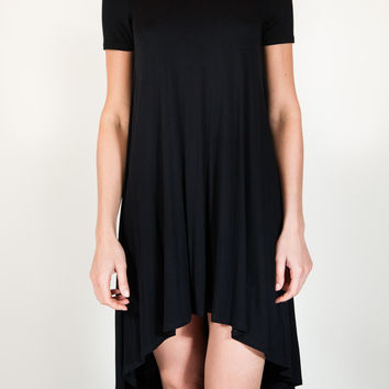 High-Low Jersey T-Shirt Dress