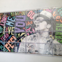 "Original Bruno Mars CD Case Pop Art 33.625""x19.375"""