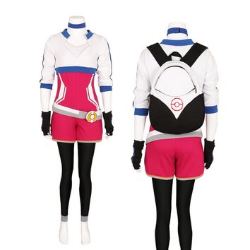 Halloween Women's Pokemon Go Trainer Team Valor Instinct Mystic Cosplay Costume Custom Made PokeBall