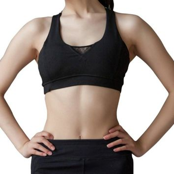Crop Top Sports Bra Women Fitness Gym Seamless Bra Sports Shockproof Brassiere Yoga Padded Running Jogger Sport Bra Push Up