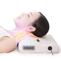 Electric Heating Magnetic Therapy Massage Pillow Health Body Relax Cushion Massager Relieve Cervical Neck Back Waist Lumbar Pain