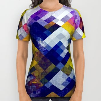 Abstract Forest All Over Print Shirt by Jeanette Rietz