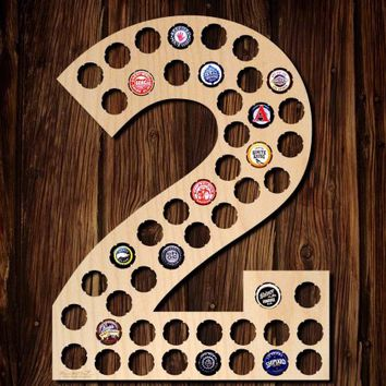Number Two Beer Cap Map