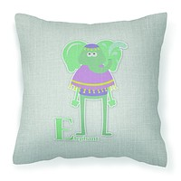 Alphabet E for Elephant Fabric Decorative Pillow BB5730PW1818
