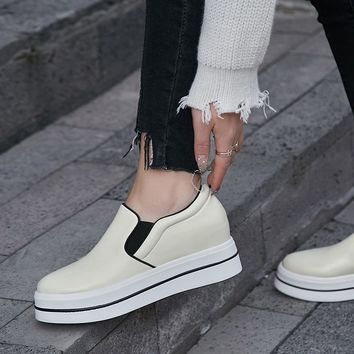 Chiko Eman Two Tone Flatform Loafers