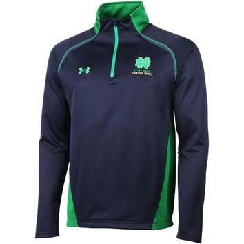 Notre Dame Fighting Irish Under Armour Blocked Tech Quarter-Zip Jacket – Navy Blue/Kelly Green