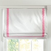 Suite Ribbon Cordless Roman Shade With Blackout Lining