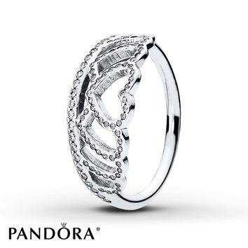 PANDORA Ring Hearts Tiara Sterling Silver