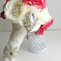 Rhinestone Brooch Bouquet Made to Order