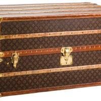 "Louis Vuitton ""Louise Laughlin"" Wardrobe Trunk, Circa 1930's 