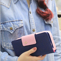 Women PU Leather Buckle Long Purse Clutch Cute Button Wallet Bag Card Holder 0006