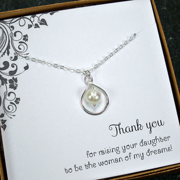 Thank you wedding party gift for mothers from bride and groom.