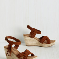 Get Your Priorities Plait Wedge | Mod Retro Vintage Heels | ModCloth.com