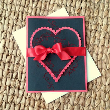 Romantic Valentine's Day Card - Blank Card - Valentine's day Presents - Cards for Her - Gifts for Him - Anniversary Cards