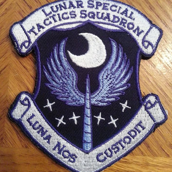 Princess Luna Latin Patch with Velcro 4 Inches