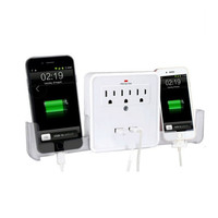 NEW! Classic Combo Wall Adapter w/ 3 AC outlets and a Dual USB ports to charge your gadgets