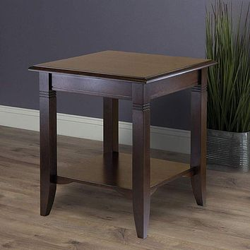 Nolan Wooden End Table By Winsome Wood