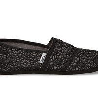 TOMS Black Crochet Youth Classics Black