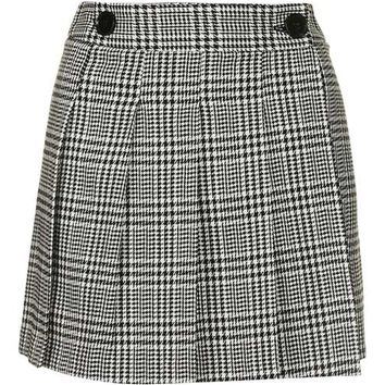 Check Print Kilt Style Skirt - Skirts - Clothing
