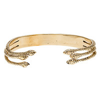 *MKL Accessories Bracelet Snake Liason Cuff in Gold