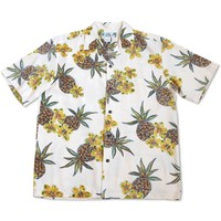 Pineapple Cream Hawaiian Rayon Shirt
