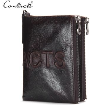 Men Leather Bags Zippers Stylish Wallet [9026421251]