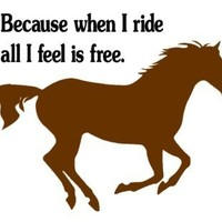 Horse decal-Quote decal-Horse sticker-Quote sticker-Horse wall decal-Kids room decal-23 X 30 inches