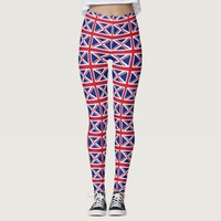 Leggings with flag of United Kingdom