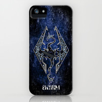 Digital Wyvern Dragon Skyrim the elder scrolls apple iPhone 4 4s, 5 5s 5c, iPod 4,5 & samsung galaxy s4 case cover