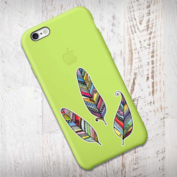 Mini Set of 3 Feathers Phone Stickers - Colorful Vinyl Feather Stickers Cute Laptop Decal Tribal Hippie Boho Nature Art Teal Pink Turquoise