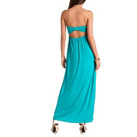 BOW-SHAPED CUT-OUT MAXI DRESS