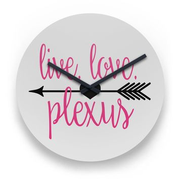 Live Love Plexus Wall Clock