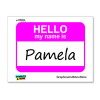 Pamela Hello My Name Is Sticker