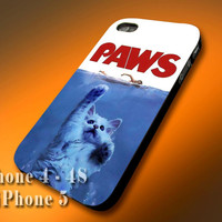 Plastic/Silicone - Cute Kitty Paws - Design Print Case for iPhone 4,4s,5,5s,5c and Samsung S2,S3,S4
