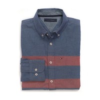 CUSTOM FIT 80'S CHEST STRIPE SHIRT | Tommy Hilfiger USA