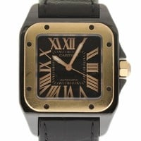 Cartier Santos 100 swiss-automatic mens Watch W2020007 (Certified Pre-owned)