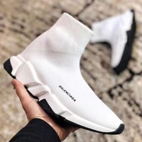 Balenciaga Classic Woman Men Stylish Breathable Sneakers Running Shoes White