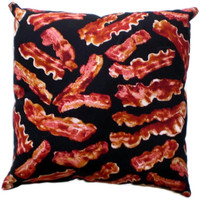 Bacon Throw Pillow Food Geek Home Decor